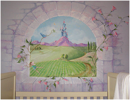 Ideas for a baby nursery beautiful and personalised for Fairy tale wall mural